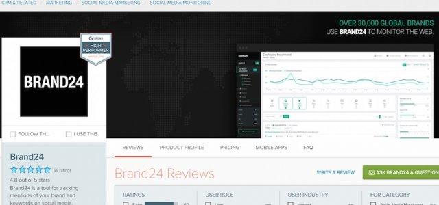 Brand24 na liście High Performer w raporcie G2 Crowd dotyczącym Monitoringu Social Media