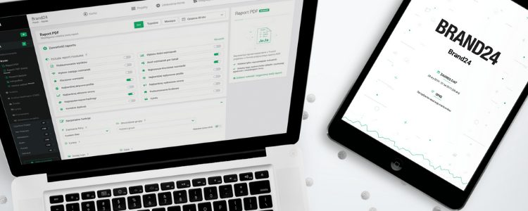Nowość w Brand24 – Raporty PDF w nowej, dostosowanej do Twoich potrzeb formie