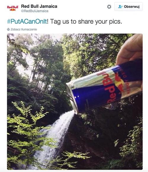 Jak używać hashtagów? - przykład Red Bull