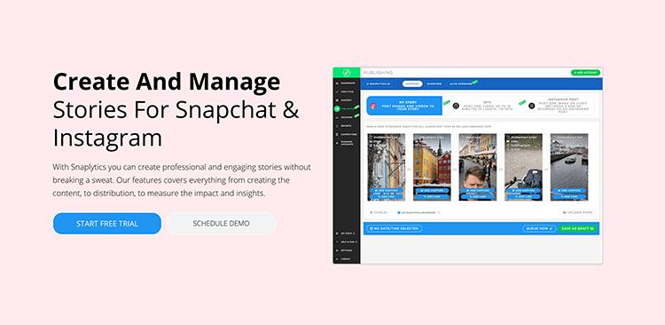 Analiza social media - narzędzie Snaplytics