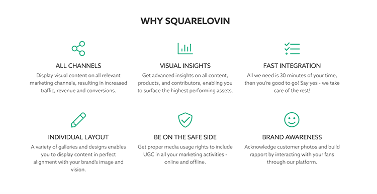 Analiza social media - narzędzia - grafika przedstawiająca Squarelovin