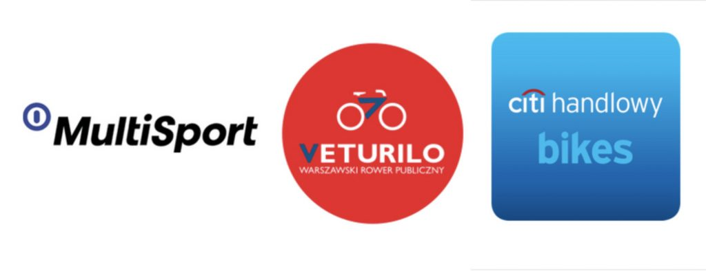 logo of multisport veturilo bikes and citibank handlowy next to each other