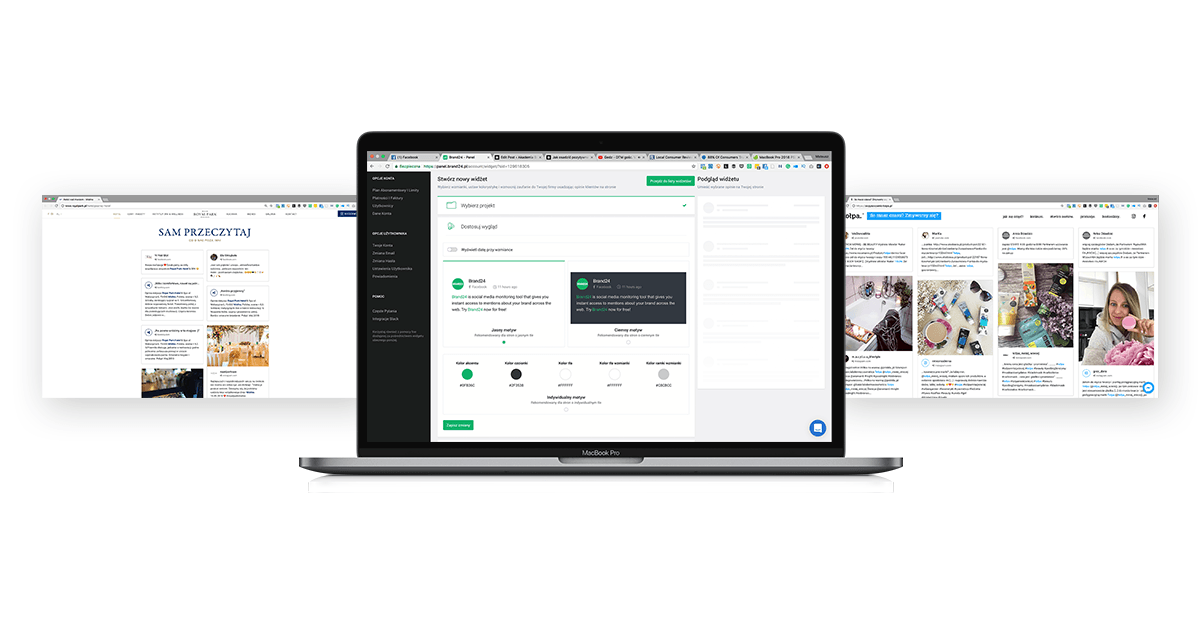 User-generated content can be displayed in Brand24's Live Customer Testimonials
